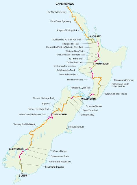 Cycle Trails 20160129 TOUR AOTEAROA Route